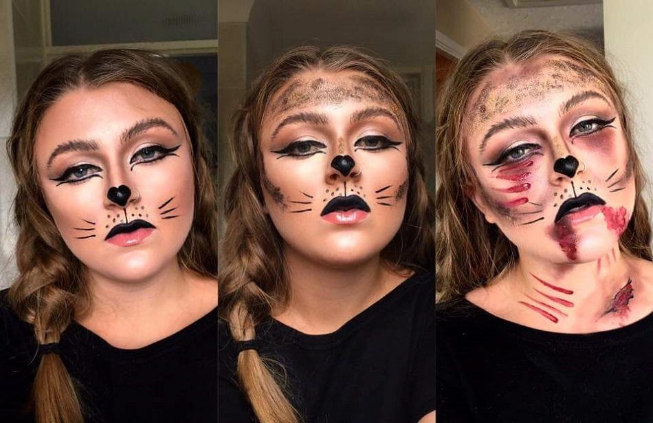 cat face paintings